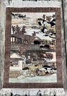 Antique Rare Handmade 100% Silk Chinese Art Deco Pictorial Fine Rug/Tapestry,2x3