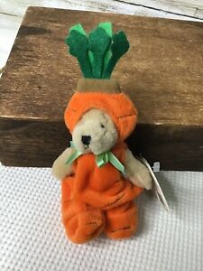 """Ganz Wee Bear Village Bear With Tags 6"""" Carrotine Great Condition Plush"""