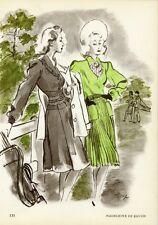 """""""MADELEINE DE RAUCH"""" Annonce originale entoilée PLAIRE 1945 M. PINTA"""