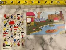 Vintage Decal Set Snoopy Peanuts Stickers Charlie Brown