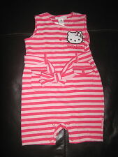 HELLO KITTY 4-6 MONTHS ROMPER BODY SUIT DECK CHAIR STYLE NEW KAWAII BABY GIRL