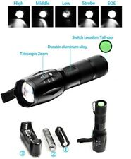 Torcia LED tattica militare softair ricaricabile T6 zoom bici batteria lanterna
