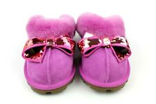 UGG COQUETTE SEQUIN BOW SHEEPSKIN SLIPPERS BODACIOUS COLOR WOMENS SIZE 10 US