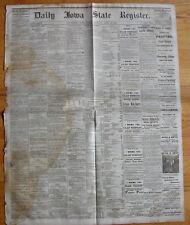 Daily Iowa State Register 1870 newspaper. Postal Reform. Pacific Telegraph