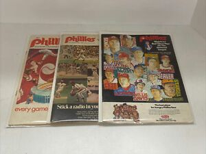 1971 72 And 74 Phillies Game Programs SP10018
