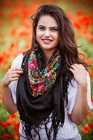 Stylish Large Slavonic, Russian scarf, shawl folk style new Winter collection