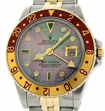 Rolex 2Tone 18k Yellow Gold/Stainless Steel GMT-Master Root Beer Diamond 16753