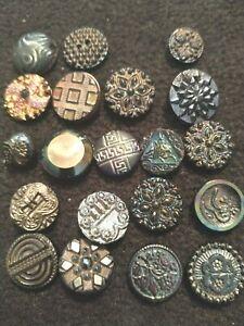 Lot Vintage Buttons.  Iridescent Glass.