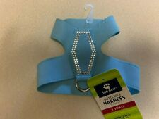 Top Paw Baby Blue Rhinestone Bling Faux Suede Butterfly Harness  XS