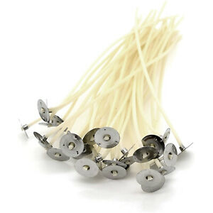 100pcs High Quality Pre Waxed Wicks With Sustainers For Candle Making