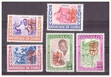 GUINEE.  N° 78/82. SERIE  SURCHARGE ORANGE  NEUVE   **. SUPERBE