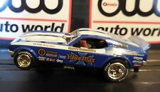 AUTO WORLD ~ Blue Max '71 Ford Mustang Funny Car ~In Jewel Case ~ FITS AFX, AW