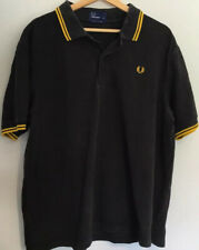 Fred Perry Mens Black Polo Shirt Size XXL