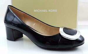 Women's Shoes Michael Kors Pauline Flex Mid Heel Pump Navy Patent Size 7