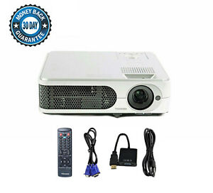 Refurbished - Toshiba TLP-XE30 3LCD Projector 3000 ANSI HD HDMI-adapter bundle