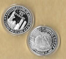 Lest We Forget 911 9-11 Challenge Commemorative Medallion Silver Coin New