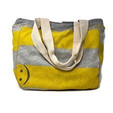 Emoticon Print MV Sport Beachcomber Bag Tote - Yellow/Gray