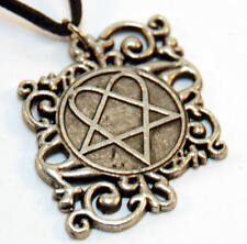 Vintage Necklace HIM heartagram Pendant Original NEW old stock - RARE -  Charm