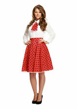 Adult Red Polka Dot Costume - Fancy Dress Costume Outfit Hen Party Minnie Mouse