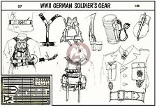 Verlinden 1/35 German Soldier Gear and Accessories WWII [PE Figure Accessory] 57