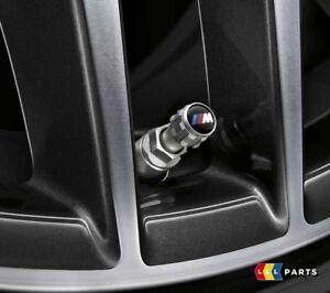 BMW NEW GENUINE M PERFORMANCE TIRE VALVE CAP SET 4 PCS 2447402