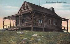 Antique POSTCARD c1910s The Log Cabin BRISTOL, CT CONN. 16664