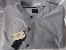MENS SHIRT GREY - SIZE XXL - AUTHENTIC CASUAL WEAR - SLIM FIT