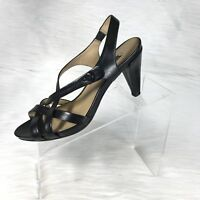 Ecco Women's Heel Sandals Black Strappy Size 39 US 8-8.5