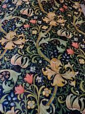 "VTG Sanderson Wm Morris Golden Lilly Blue 4 yds 1991 England 54"" wide Cotton"