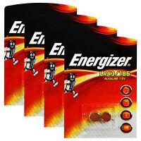 8 x Energizer Alkaline LR43 186 batteries 1.5V 1176A AG12 Watches Calculators