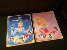 Lot 2 Hardcover Disney Princess Books in Spanish La Bella Durmiente & Cenicienta