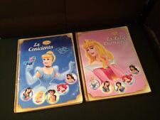 Lot 2 Hardcover Disney Princess Books in Spanish La Bella Durmiente & Cenicienta