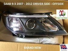 SAAB 9-3 93 2007-2012 HEADLIGHT HEADLAMP RIGHT HAND OFFSIDE DRIVER DRIVERS SIDE