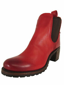 Frye Womens Sabrina Chelsea Bootie Shoes, Burnt Red, US 7