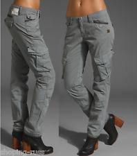 G-Star Femme Pantalon W-27 L-32 Arctic Rovic Straight Gris Combat Sergé Neuf