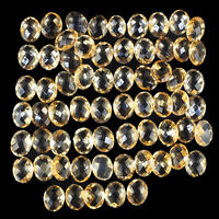 VVS 65 Pcs Natural Citrine AAA Quality Oval Checker Cut Unheated Gems 10mm/8mm