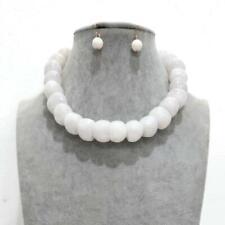 White Stone Fashion Necklace Set ( 2382 )