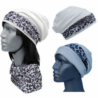 Cool4 Structure Beanie White Leopard Kopftuch-Look - 2erSet Chemo Turban SBK17