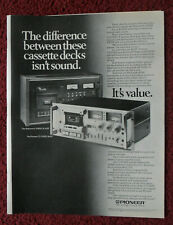 1979 Print Ad Pioneer CT-F1000 Cassette Deck ~ Compared to the Nakamichi 1000II