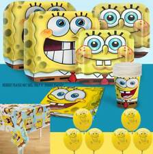 SpongeBob Squarepants Themed Birthday Party Tableware w Balloons Tablecover 8pp
