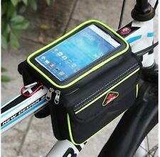 Bicycle Bkie Smartphone Mobile Touchable Bag Mount Double Side Storage_nV