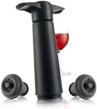Vacu Vin wine saver with two stoppers, Black