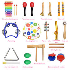 19PCS Wooden Kids Baby Musical Instruments Toys Children Toddlers Percussion?