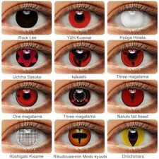 2 pcs  Halloween Cosplay Colored Eye Lenses w/ Free Case Anime Eyes
