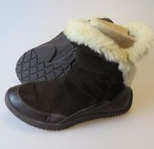 EARTH Invent Beaver Brown Leather Faux Fur Winter Boots Women's Size 7 B Medium