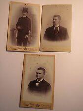 Zwickau Dresden - um 1902 - Studentenverbindung Zirkel ? mit Curt Mittag / 3 CDV