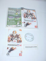 MADDEN NFL 12 football complete in case w/ manual - Playstation Portable PSP