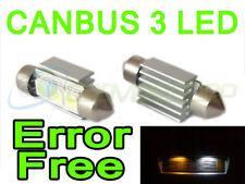 PAR CAN BUS Xenón LED Blanco Placa de matrícula sustitución Bombillas Para Fiat