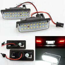 Pair LED White License Plate Light Housing Set For Nissan Altima/Sentra/Maxima