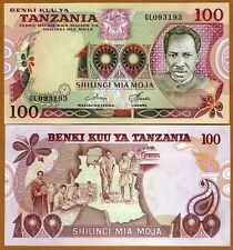 Tanzania, 100 Shilingi, (1977) P-8d UNC > Highest Denomimation